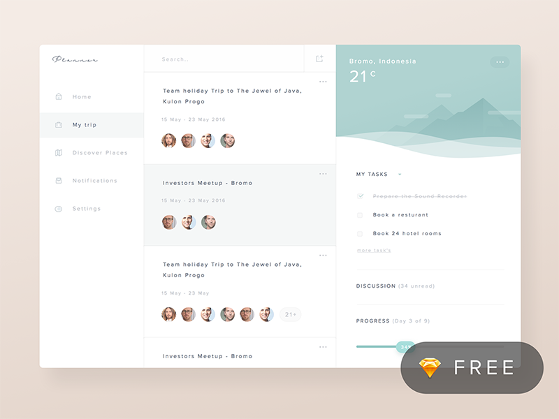 Planner Dashboard Concept psd sketch freebie team illustration dashboard social management task productivity