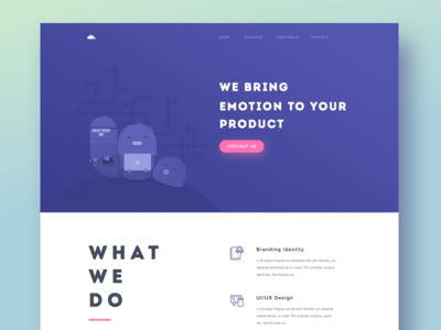 Paperpillar Studio Landing Page homepage landing page icons illustration agency creative website web