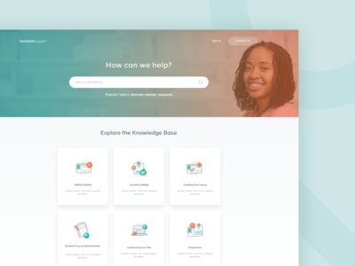 Teachable Support Page