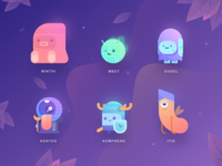 Paperpillar's Characters