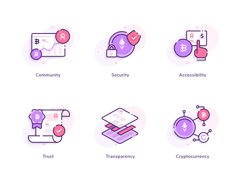 Cryptocurrency Icons by Ghani Pradita for Paperpillar on Jun 5, 2018