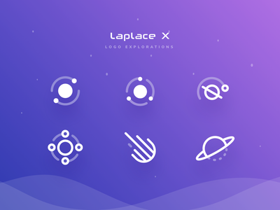 Logo Explorations simple line gradient outerspace moon planet galaxy space logo cryptocurrency