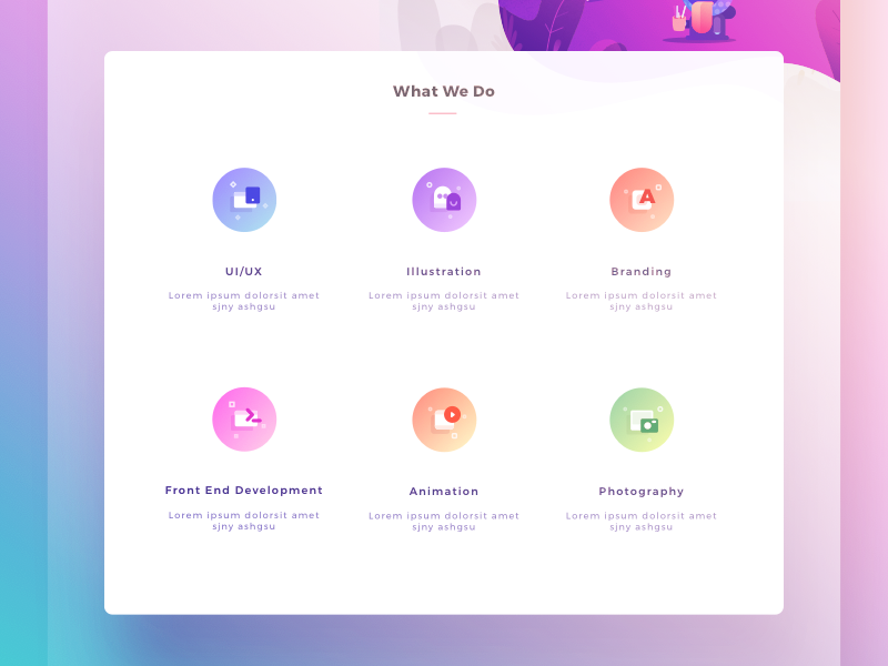 Icons for Paperpillar Landing Page icons illustrations gradient branding ui ux web photography animation frontend