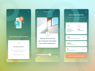 Education App Exploration graph dashboard stats quiz fresh gradient modern layout cards ux ui ios 11
