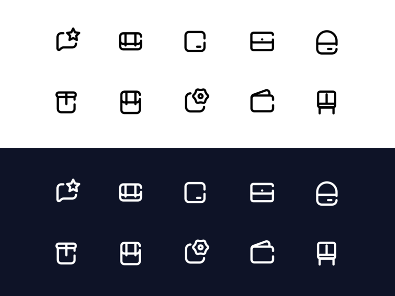 Oliobags Iconset Freebie ios lineart essential chat bags iconset icons sketch freebie download free