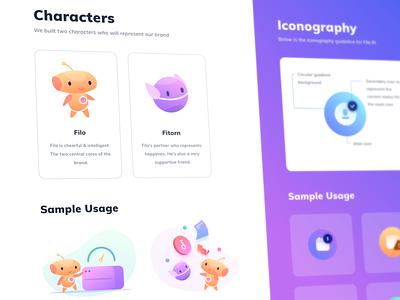 Illustrations & Icons Guideline ai machine alien robot cute logo branding brand desktop web stats graph cards social gradient app icons illustration