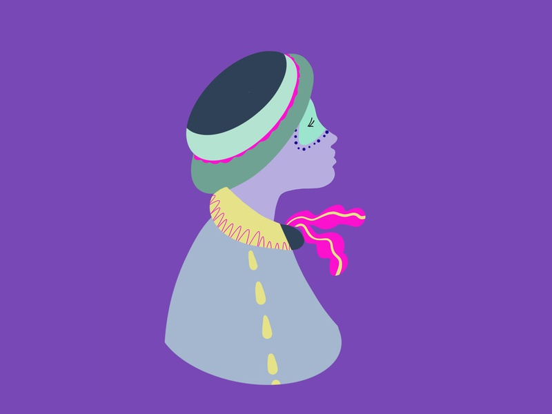 Be a clown in life design procreate app illustration