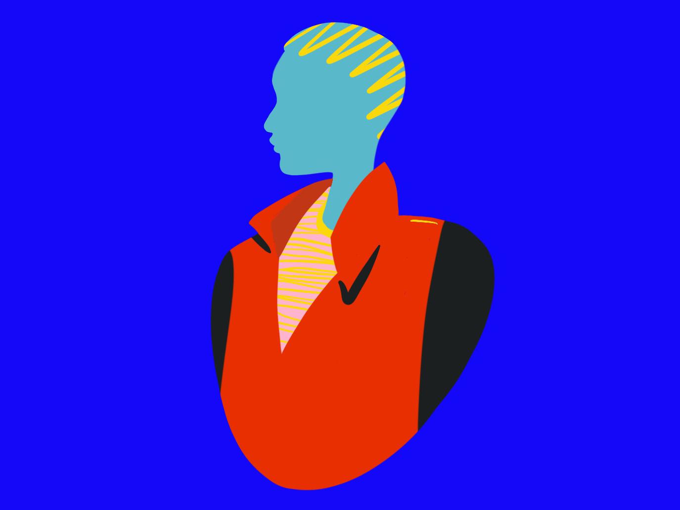 Extreme haircut design procreate app illustration