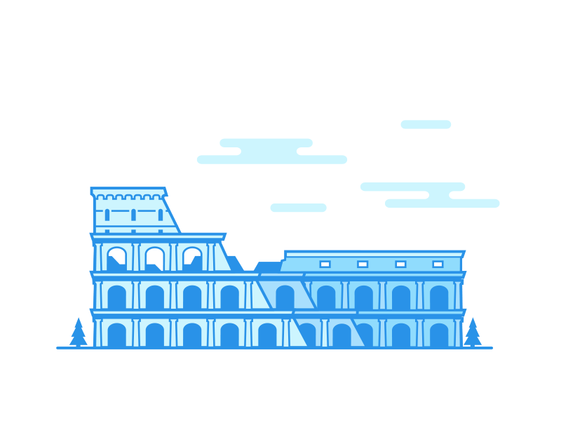 Coliseum landmark rome minimalistic city shambles ruin world travel flat landscape roma vector building monument italy lineart icon coliseum ancient