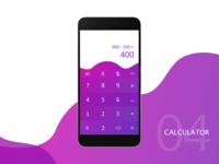 #dailyUI04 - Calculator