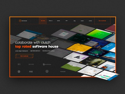 Merixstudio - website - Why Merix? colorful orange dark ui design user interface photoshop