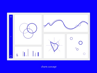 Charts Concept – quick sketch_04 line single color contrast charts ultramarine blue user interface design userinterface ui user interface photoshop