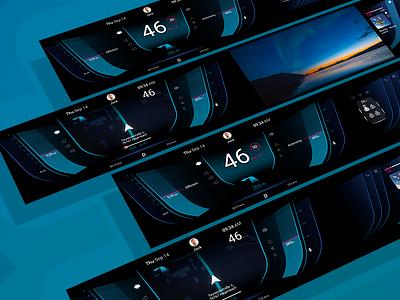 Ui Dashboard illustration car app ux ui design automotive