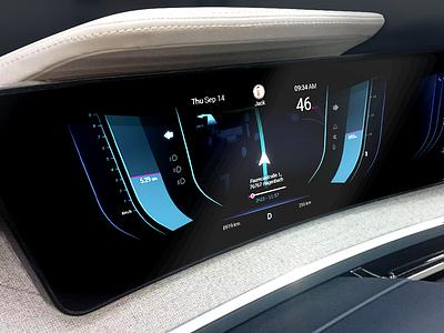 Autonomous Car Dashboard autonomous interface design experience app design ux ui car automotive