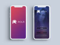 ROLR - Logo and welcome screen
