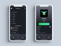 Spotify Library Redesign