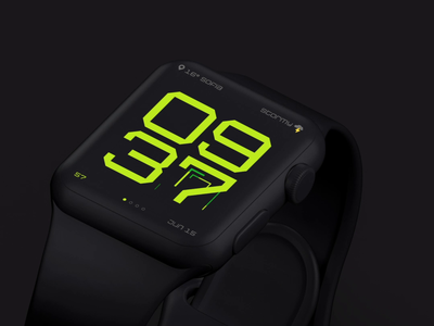 Super Duty watch face (Animated UI Concept) app watchappdesign iwatch wearableapp clockdesign wearable watchux watchui application watch watchapp applewatch watchos primedivision division prime хаджиев страхил hadzhiev strahil