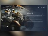 Ad Astra (Theatrical Website UI Design Concept)