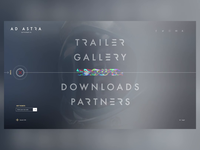 Ad Astra movie website navigation (Animated UI concept)