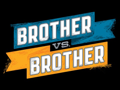 Brother vs. Brother television logo branding flag competition