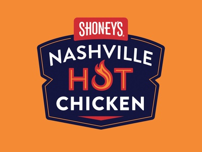 Shoney's Nashville Hot Chicken Logo branding logo badge lockup nashville food restaurant hot chicken