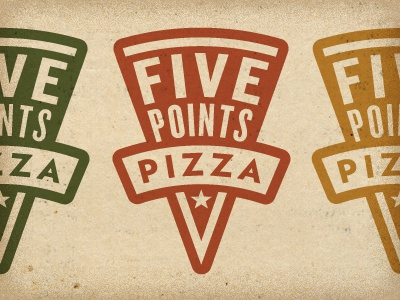 Five Points Pizza logo food branding