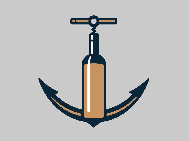 Riverside Beverage Anchor boat nautical river cork corkscrew bottle beverage alcohol booze wine liquor anchor