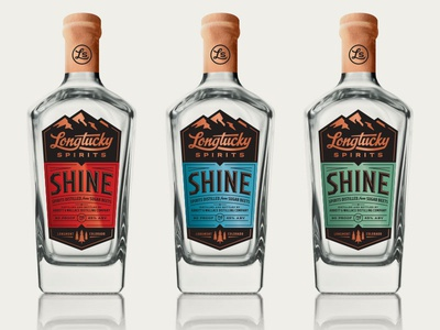 Longtucky Spirits – Printed Bottle Label Mockups