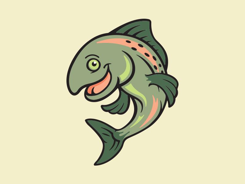 Salmon Mascot conservation water fins smile happy fish illustration mascot salmon