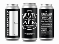 Heaven & Ale Brewing Co. Concept Crowlers