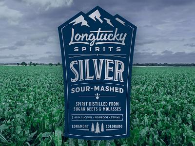Longtucky Silver Label colorado craft distillery molasses sugar beets mountains alcohol shine spirits