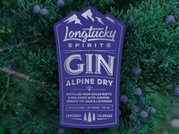 Longtucky Gin Label
