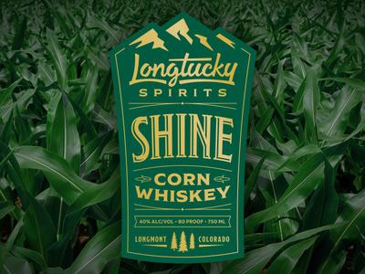 Longtucky Shine Label colorado craft distillery mountains alcohol whiskey corn shine spirits