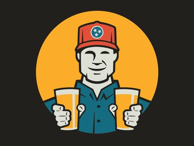 Common John Mascot beverage pints tri-star trucker hat denim work shirt tennessee brewery beer