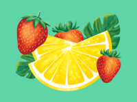 Strawberry Lemonade Illustration