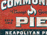 Community Pie Wall Ad