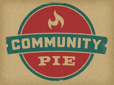 Community Pie Logo logo branding flame pizza pie restaurant