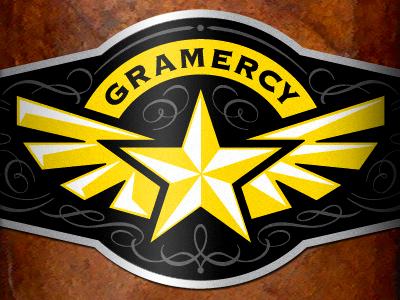Gramercy Cigars logo packaging branding star wings cigar.