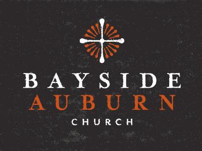 Bayside Auburn Logo B logo church cross sun branding brand