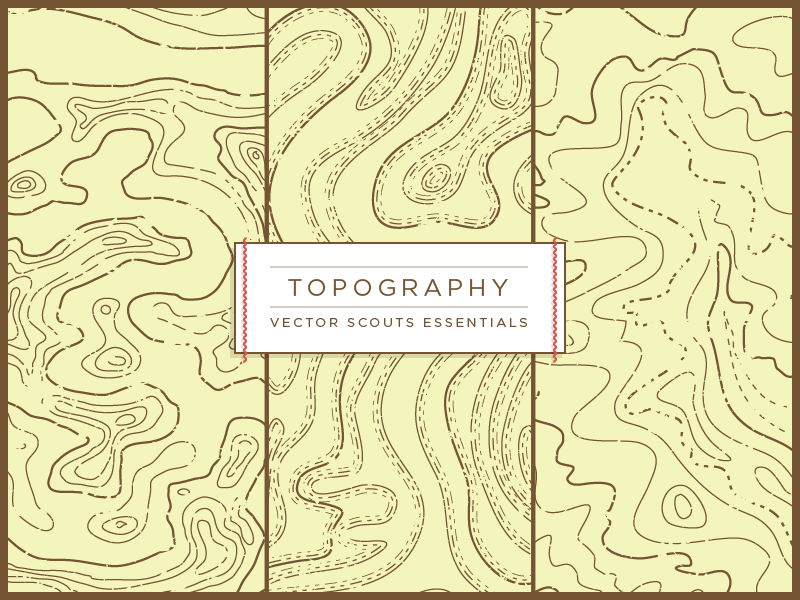 VS Topography illustration vector topography map nature typography texture pattern seamless vintage label