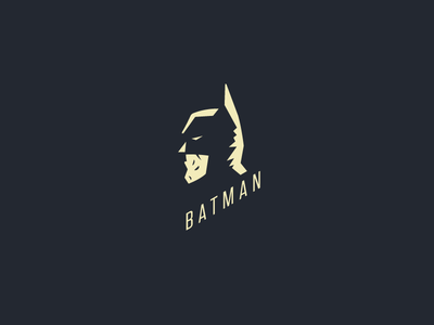 Batman Logo Study illustration logo study typography simple batman dark knight vector comic