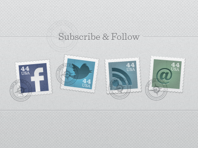 Social Stamps vector illustrator icons facebook twitter mail email stamp seal typography texture