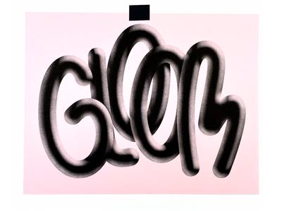 Gloom 3d risograph print illustration typography