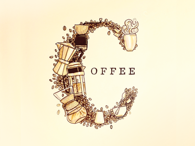 Coffee Doodle illustration typographty sketch doodle coffee