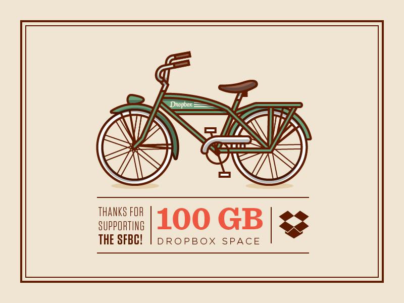 SFBC Certificate illustration icon vector typography bike fun vintage