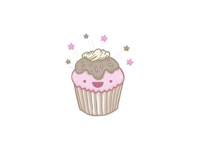 Yay Cupcake illustration vector icon tasty cute cupcake