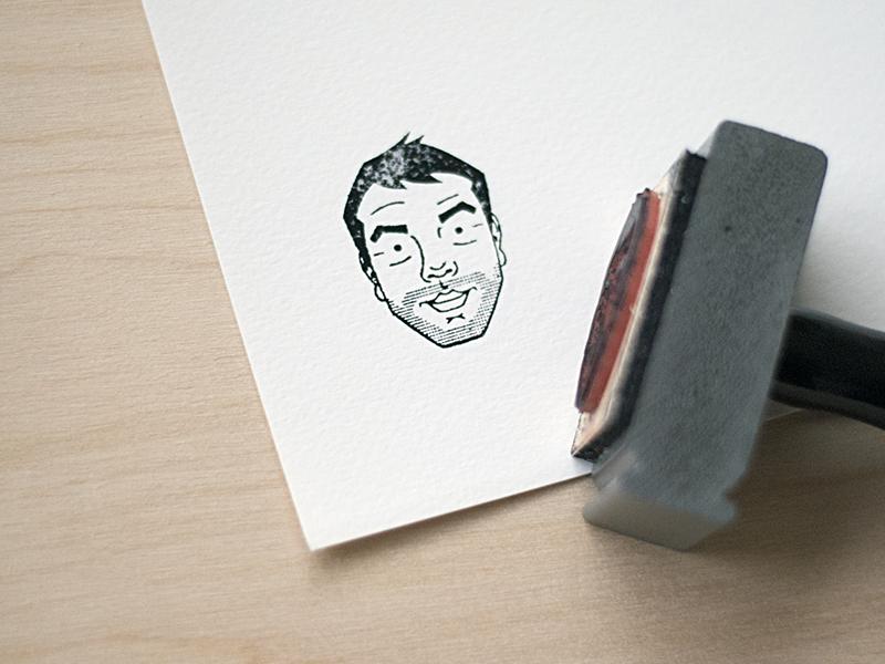 Ryan Stamp illustration icon packaging stamp print facea