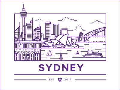 Sydney Office illustration vector sydney australia city opera boat bay ocean bridge
