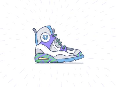 Dropkicks illustration vector shoes coolio sketch hand-drawn