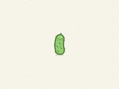 Pickle illustration vector icon food cute fun sticker pickle bumpy